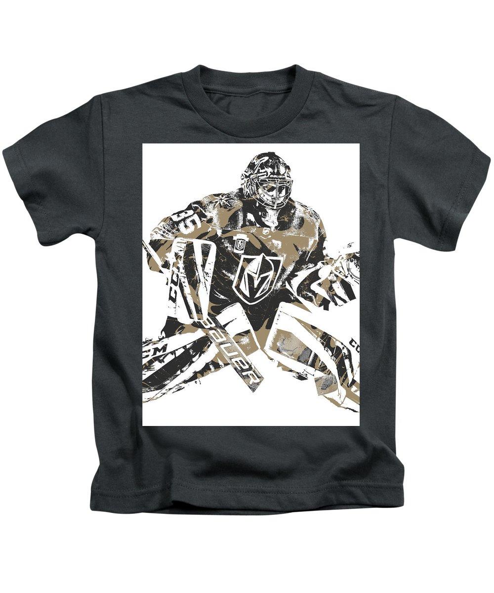Oscar Dansk Kids T-Shirt featuring the mixed media Oscar Dansk Vegas Golden  Knights Pixel 92ea7d24a51b