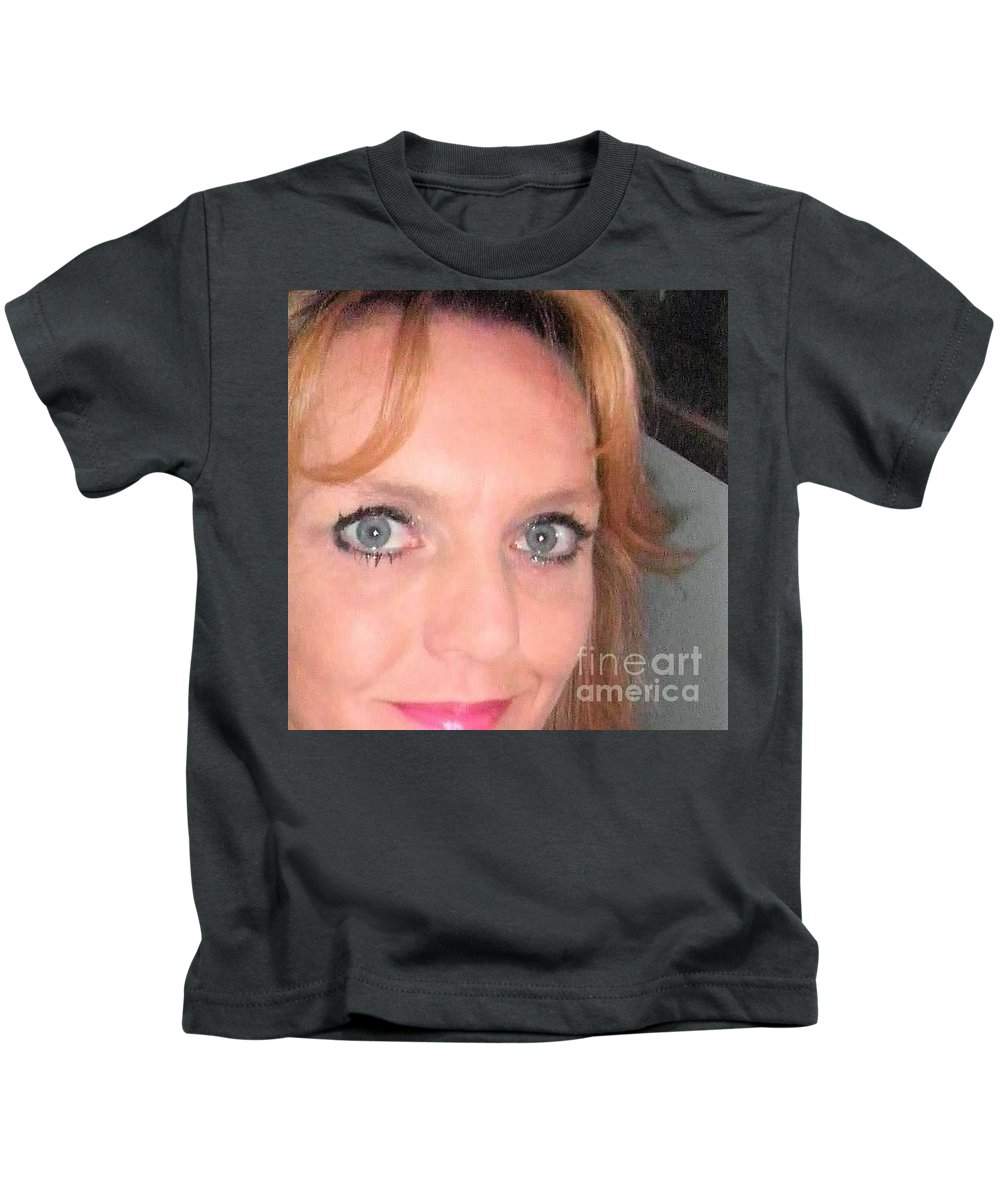 Kids T-Shirt featuring the photograph Other Me by Miss McLean