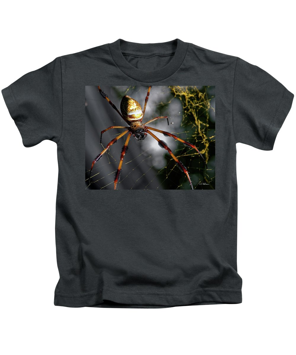 Spider Kids T-Shirt featuring the photograph Out Of The Dark by Christopher Holmes