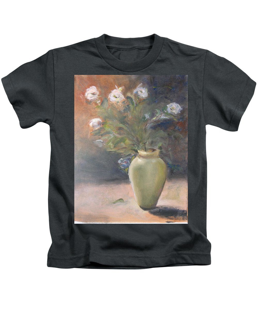 Flower Kids T-Shirt featuring the painting Out Of The Garden by Patricia Caldwell