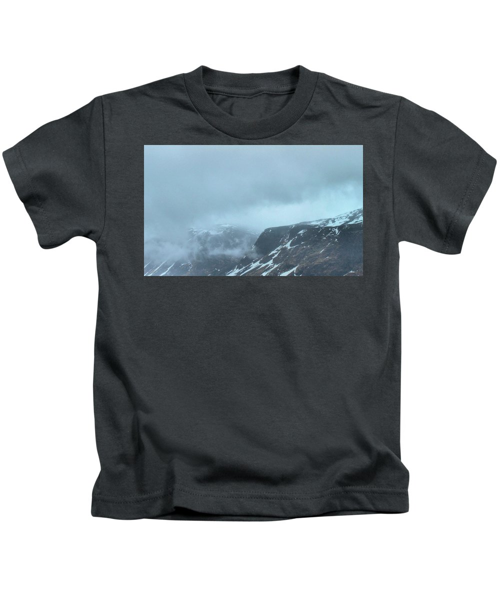 Outthereamongtheclouds Kids T-Shirt featuring the photograph Out There Among The Clouds by Barry King