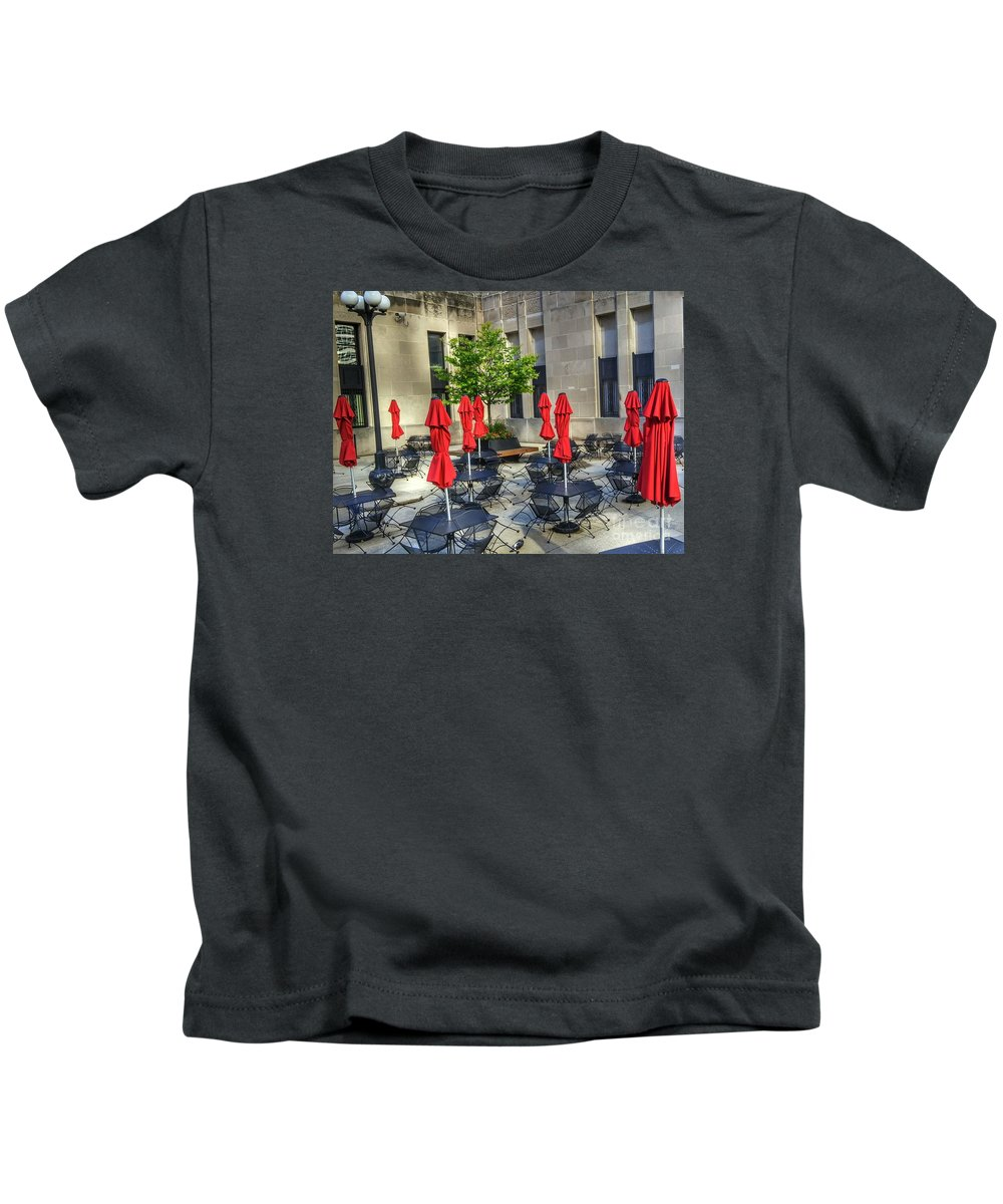 Outdoor Cafe Kids T-Shirt featuring the photograph Outdoor Cafe by Anthony Smith