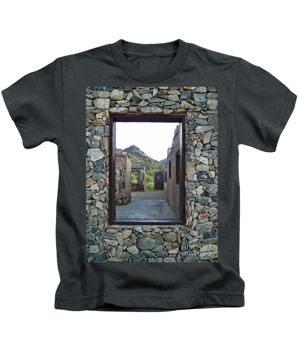 Kids T-Shirt featuring the photograph Outside Looking In by Edmund Mazzola