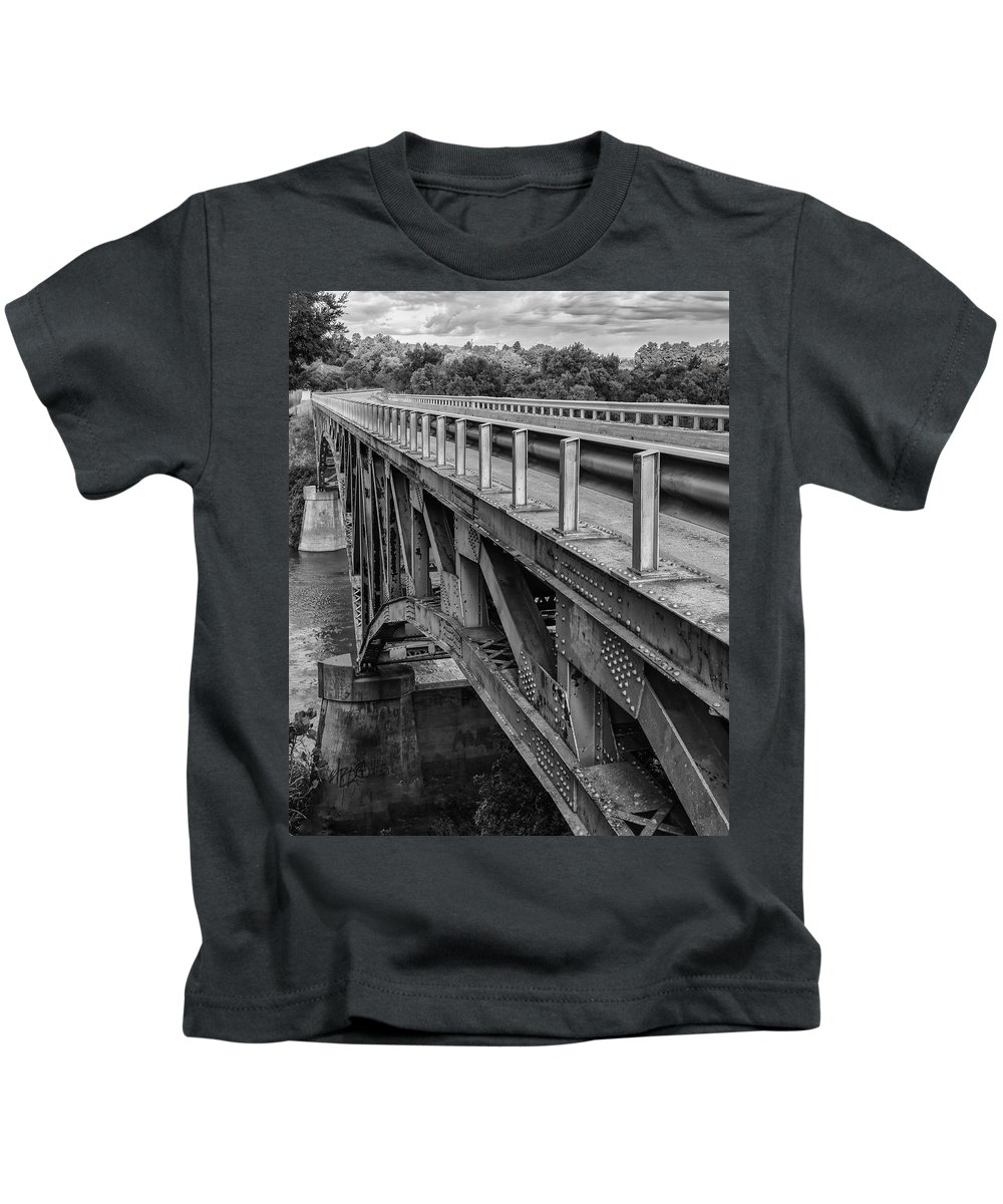 Black Kids T-Shirt featuring the photograph Over Troubled Water by Jayme Spoolstra