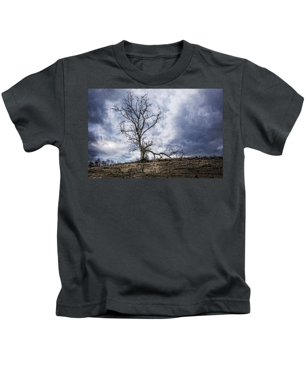 Appalachia Kids T-Shirt featuring the photograph Overlook by Debra and Dave Vanderlaan