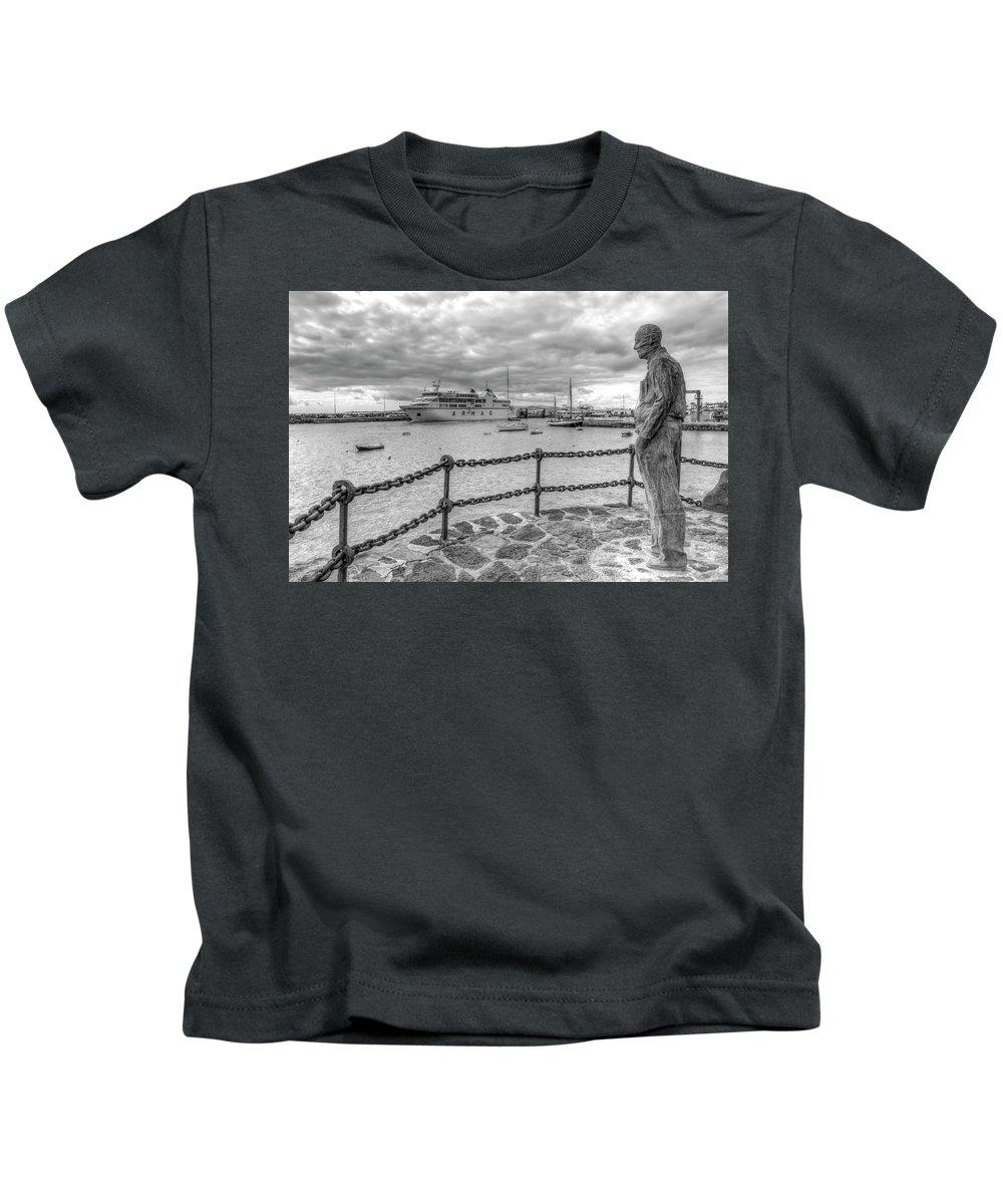 Playa Blanca Kids T-Shirt featuring the photograph Overlooking Playa Blanca Harbour by Gerry Greer