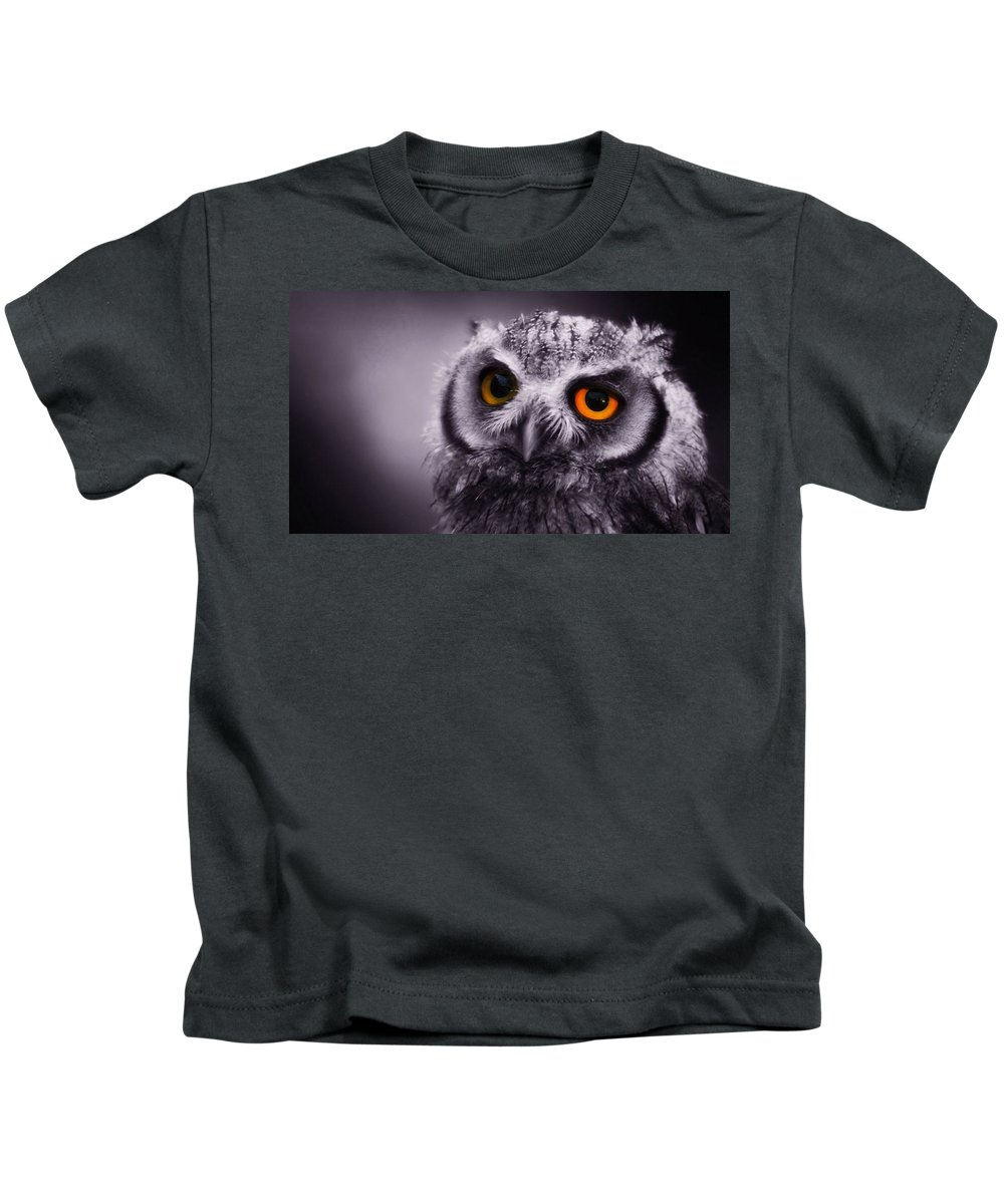 Owl Kids T-Shirt featuring the digital art Owl by Dorothy Binder