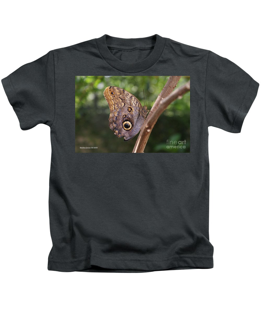 Butterfly Kids T-Shirt featuring the photograph Owls Don't Always Have Feathers by Shelley Jones