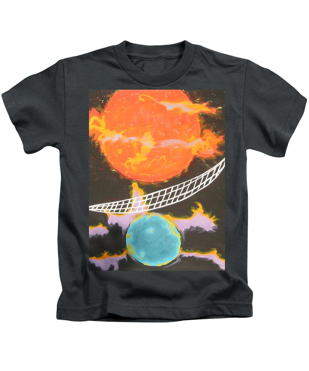 Environment Kids T-Shirt featuring the painting Ozone Net by V Boge