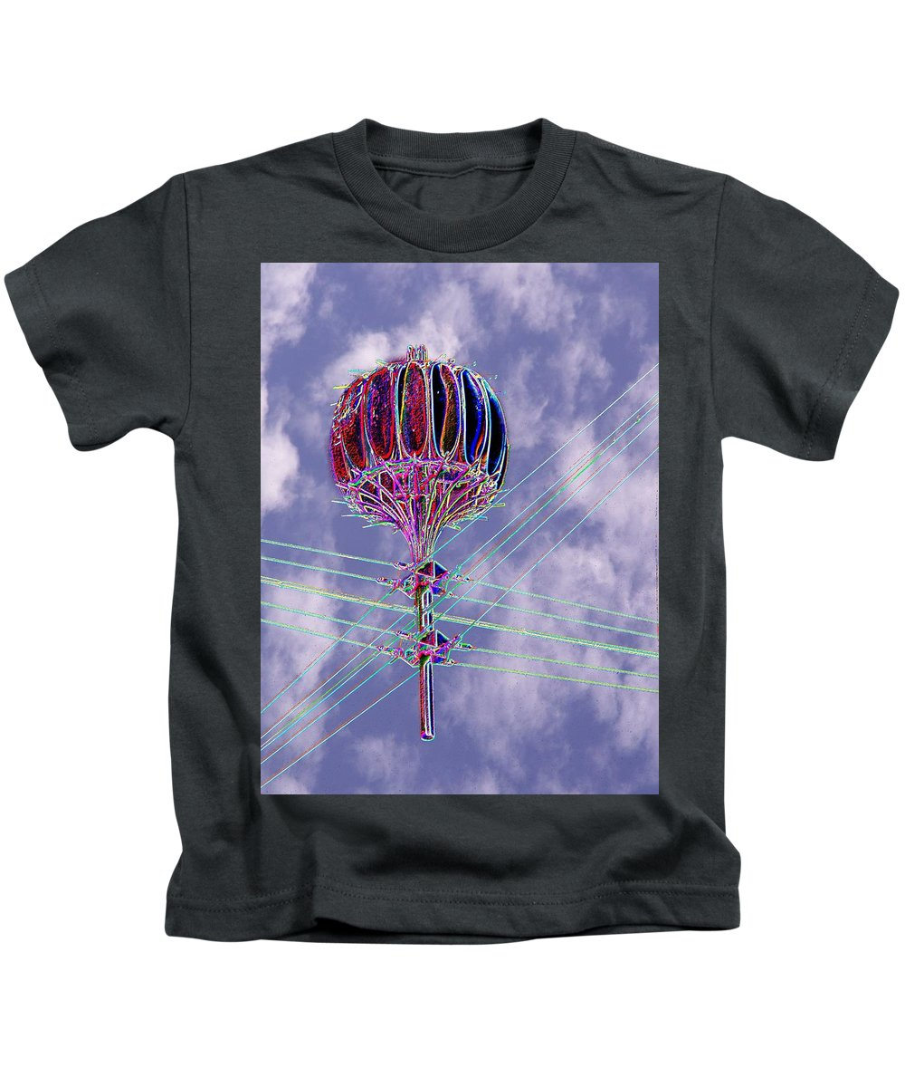 Seattle Kids T-Shirt featuring the photograph Pacific Science Center Lamp 2 by Tim Allen