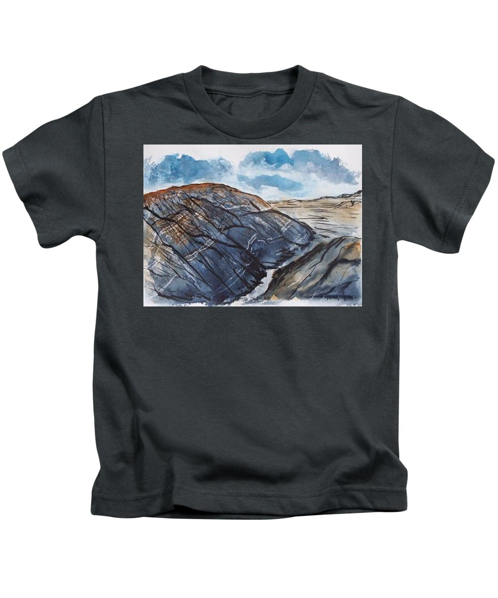 Plein Air Kids T-Shirt featuring the painting Painted Desert landscape mountain desert fine art by Derek Mccrea