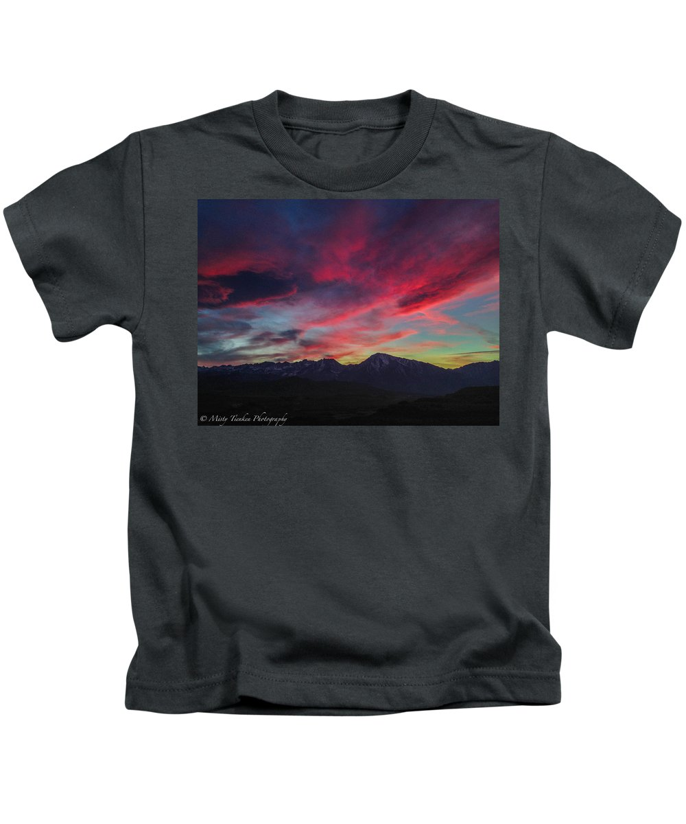 Paint Kids T-Shirt featuring the photograph Painters Sky by Misty Tienken