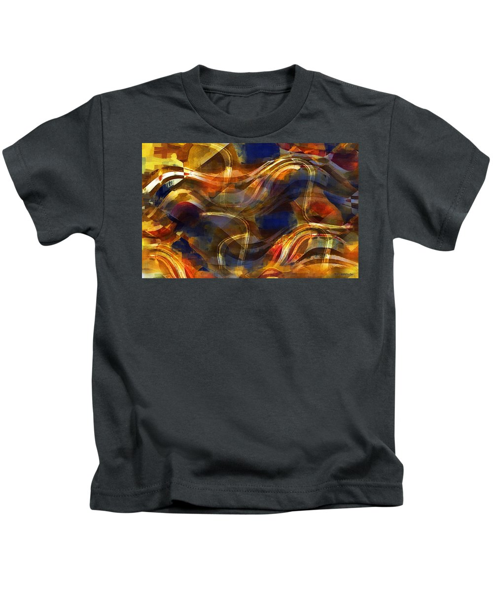 Abstract Kids T-Shirt featuring the painting Pamplona by RC DeWinter