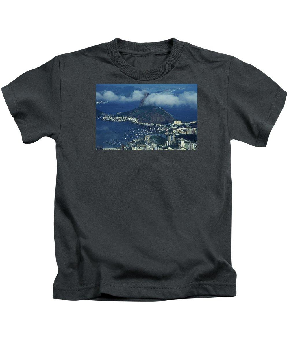 South America Kids T-Shirt featuring the photograph Pan De Azucar - Rio De Janeiro by Juergen Weiss