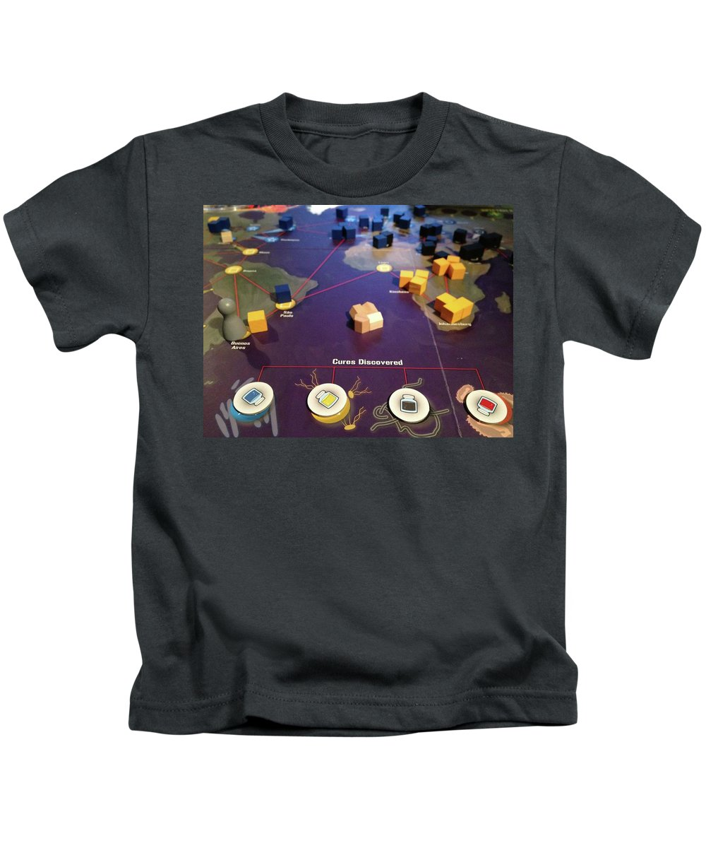 Pandemic Kids T-Shirt featuring the digital art Pandemic by Dorothy Binder
