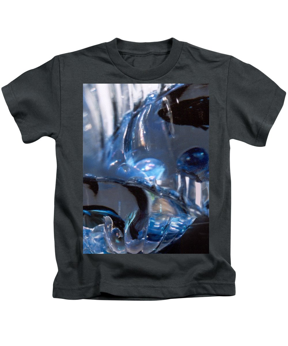 Glass Kids T-Shirt featuring the photograph Panel 2 From Swirl by Steve Karol