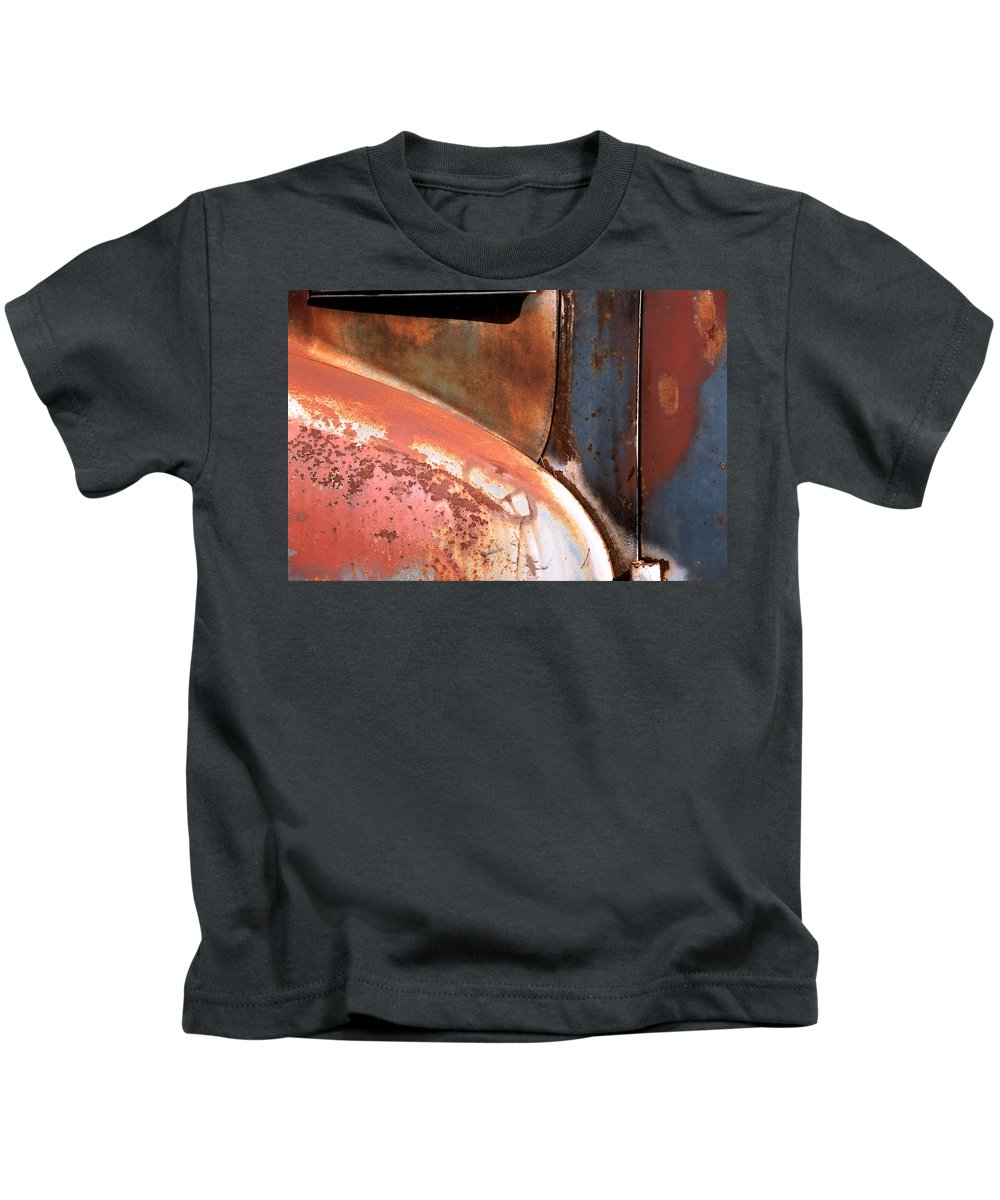 Abstract Kids T-Shirt featuring the photograph Panel from Ole Bill by Steve Karol