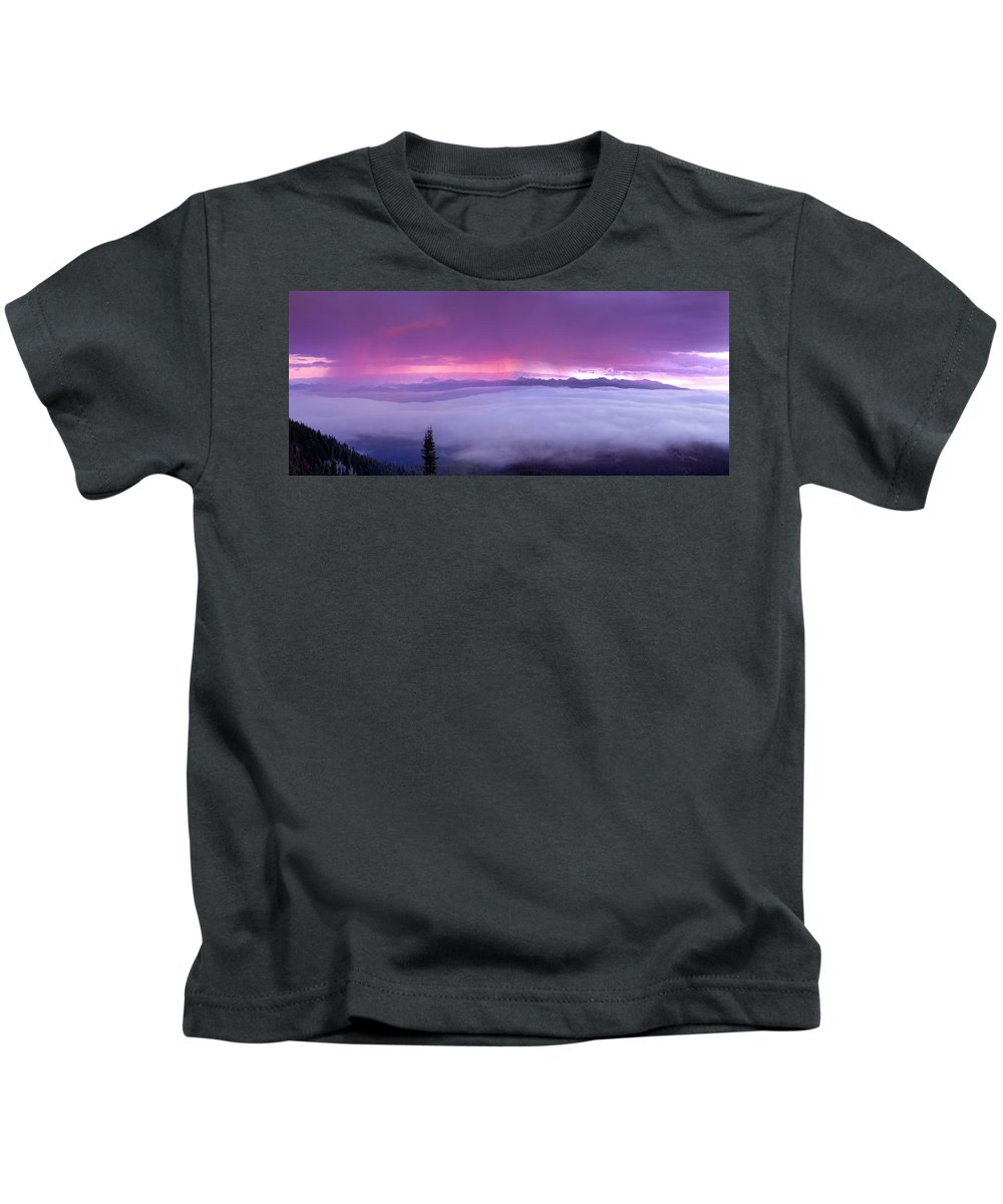 Magruder Corridor Kids T-Shirt featuring the photograph Panoramic Wilderness by Leland D Howard