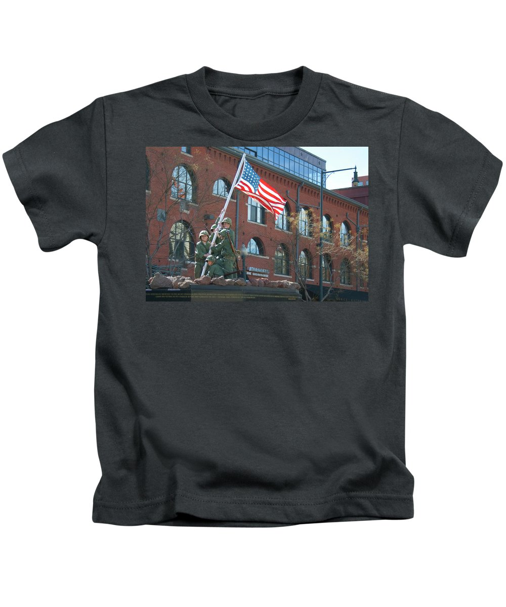 St. Patrick's Day Parade Kids T-Shirt featuring the photograph Parade 7 by Angus Hooper Iii