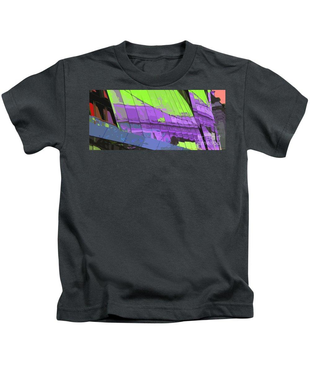 Paris Kids T-Shirt featuring the photograph Paris Arc De Triomphe by Yuriy Shevchuk