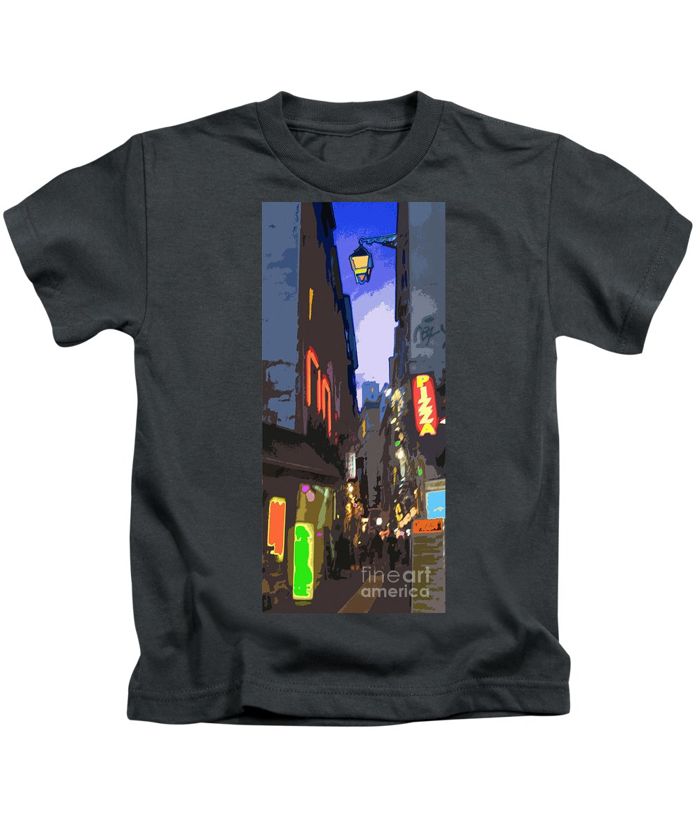 Paris Kids T-Shirt featuring the photograph Paris Quartier Latin 01 by Yuriy Shevchuk
