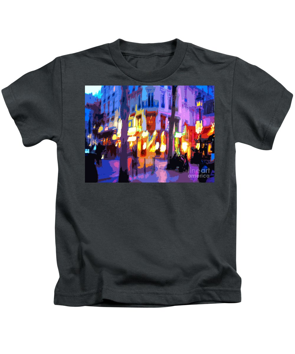 Paris Kids T-Shirt featuring the photograph Paris Quartier Latin 02 by Yuriy Shevchuk