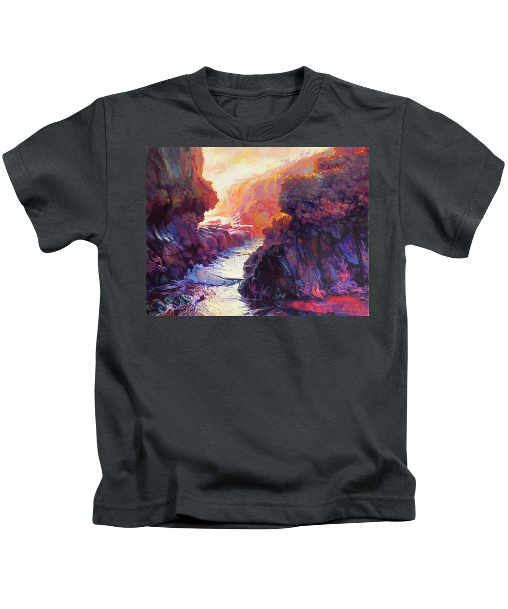 Ocean Kids T-Shirt featuring the painting Passage by Steve Henderson