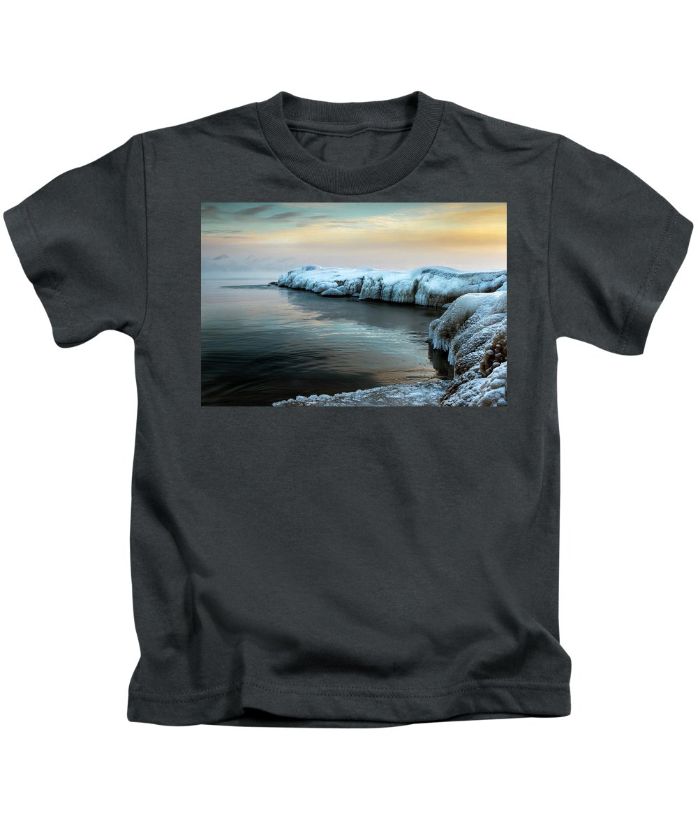 Canada Kids T-Shirt featuring the photograph Pastels And Ice by Simon Garratt