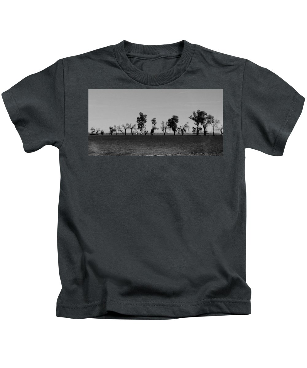 Path Of Trees On Farm Kids T-Shirt featuring the photograph Path Of Trees On Farm by Peggy Leyva Conley
