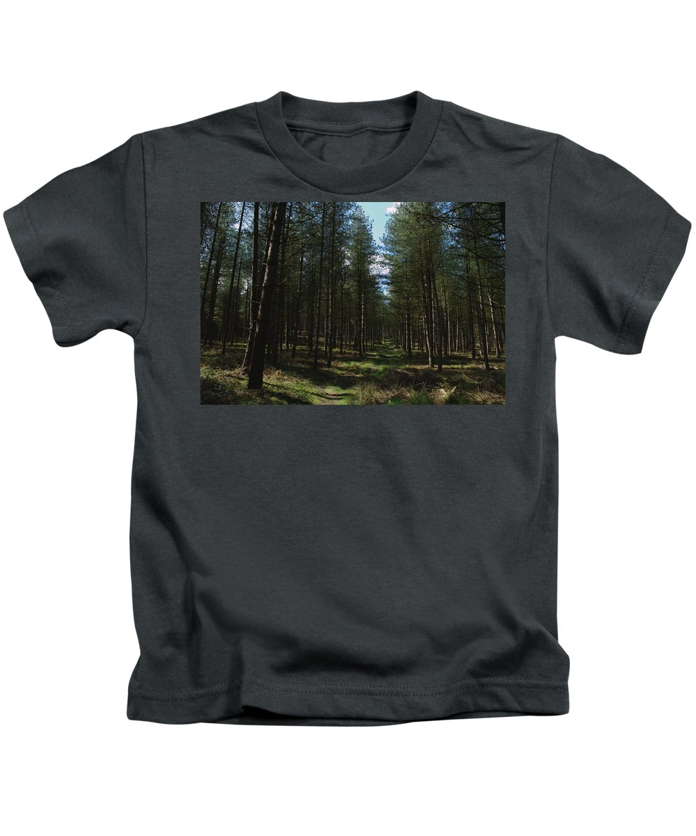 Path Kids T-Shirt featuring the photograph Path Through Cannock Chase by Adrian Wale