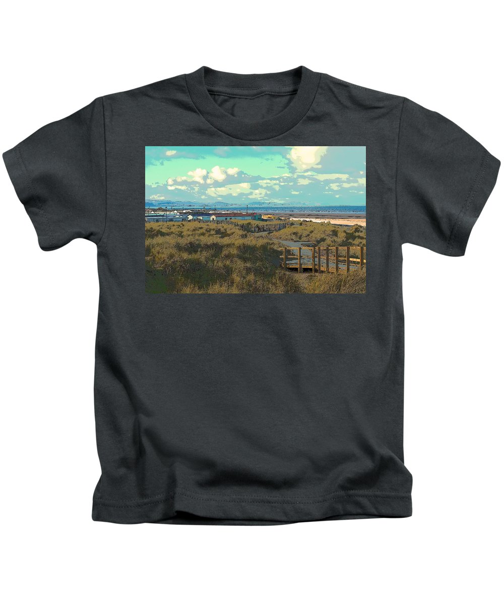 Sea Kids T-Shirt featuring the photograph Pathway To The Sea by Lisa Byrne