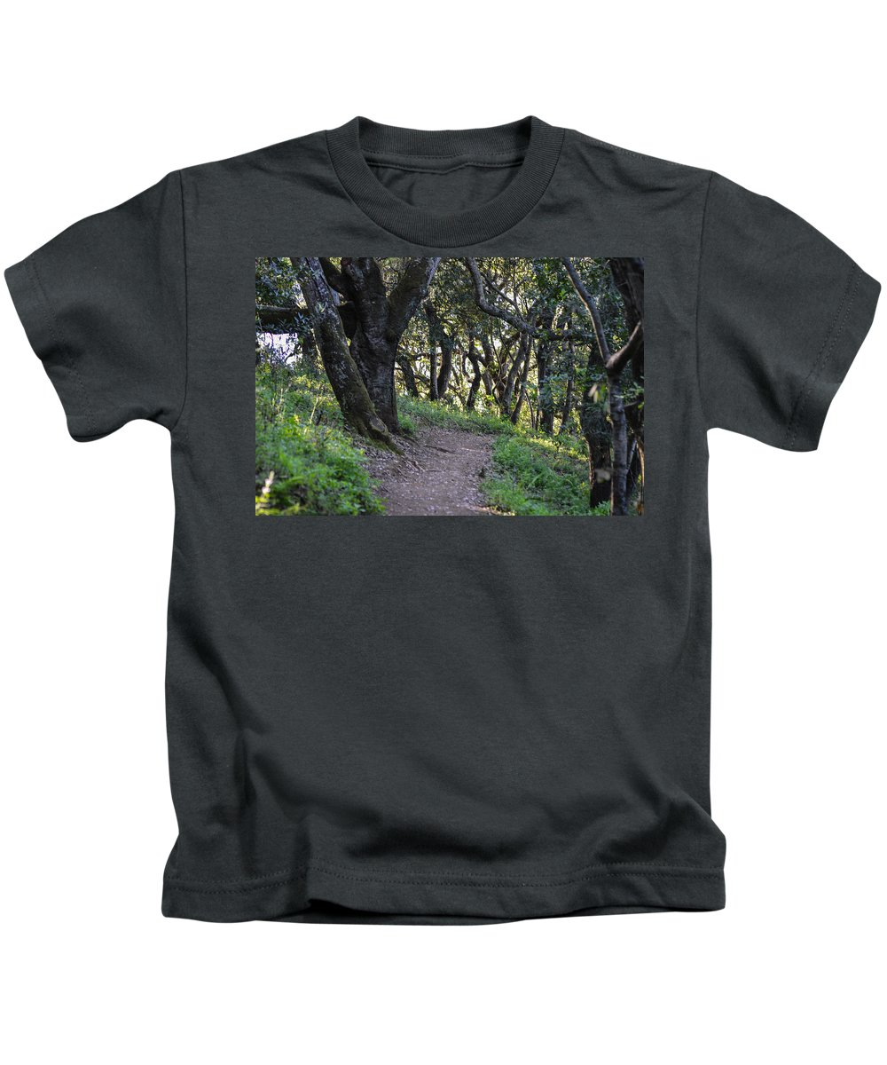 Nature Kids T-Shirt featuring the photograph Pathways by Miranda Strapason