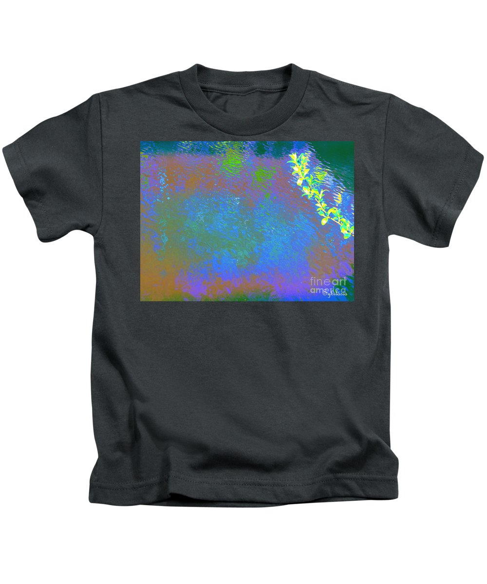Water Art Kids T-Shirt featuring the photograph Patient Earth by Sybil Staples