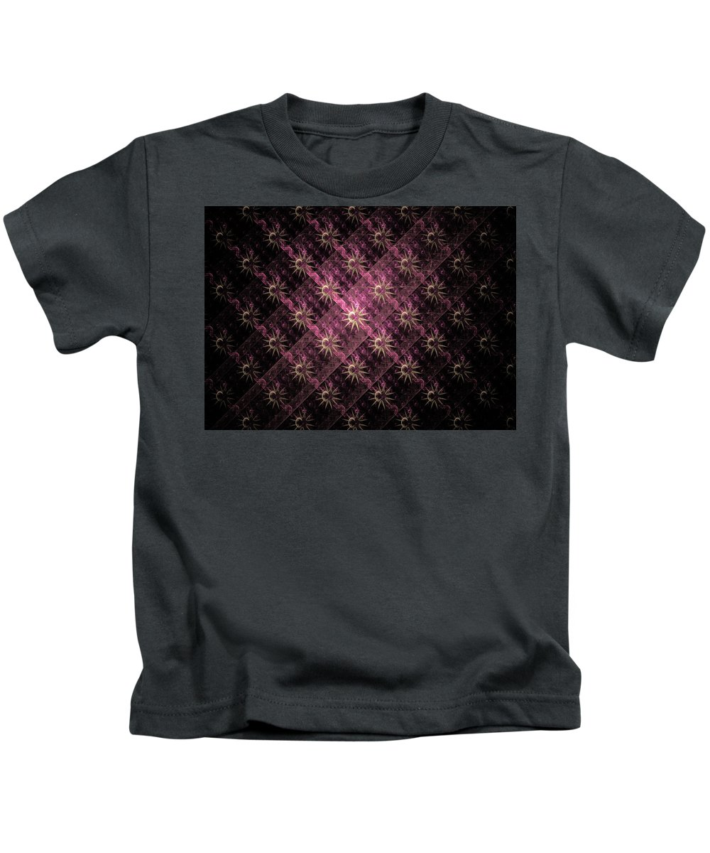 Elena Riim Kids T-Shirt featuring the digital art Pattern Of Stars by Elena Riim