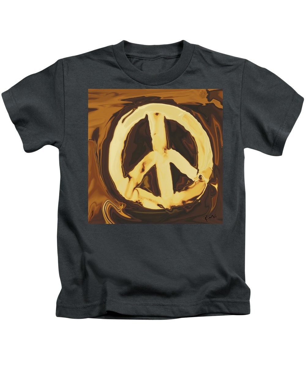 Freedom Kids T-Shirt featuring the digital art Peace 2 by Rabi Khan