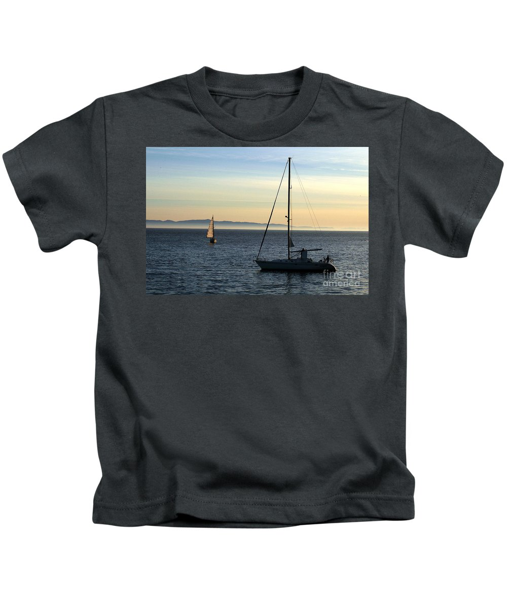 Clay Kids T-Shirt featuring the photograph Peaceful Day In Santa Barbara by Clayton Bruster