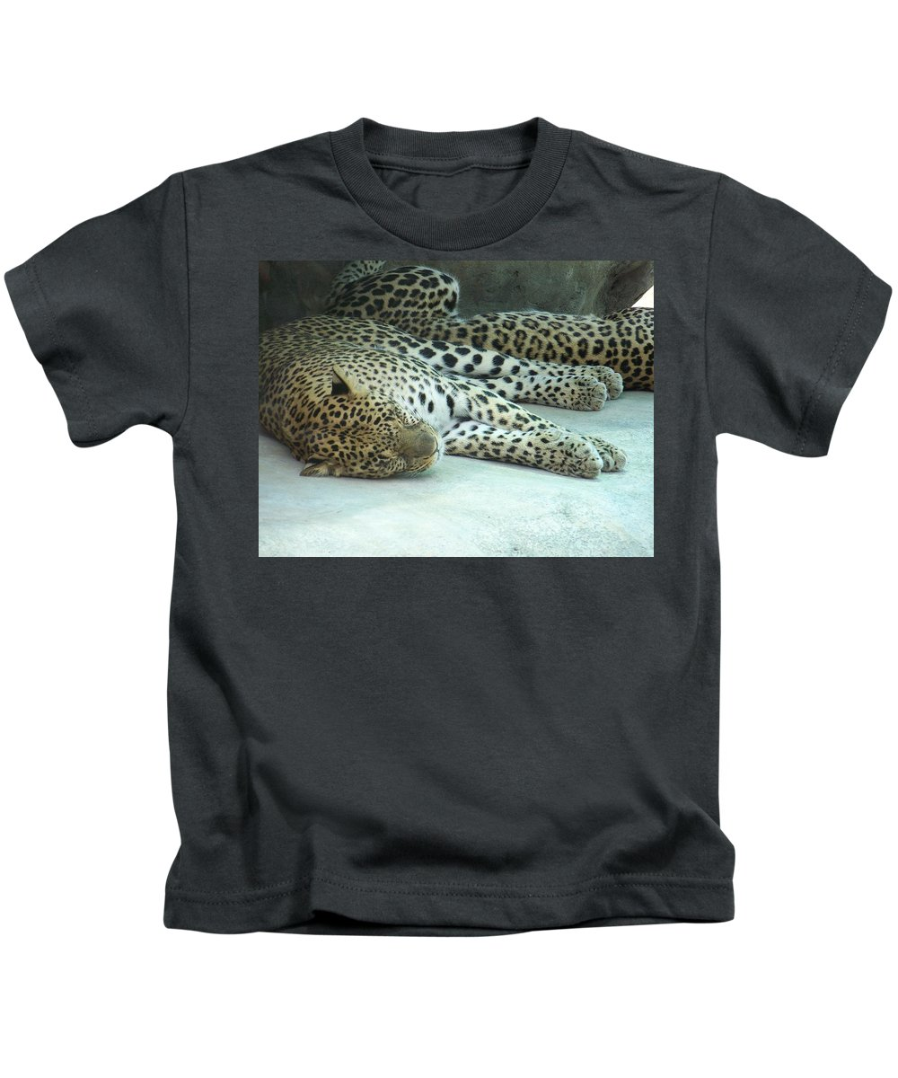 Chetah Kids T-Shirt featuring the photograph Peaceful Sleep by Laurie Paci