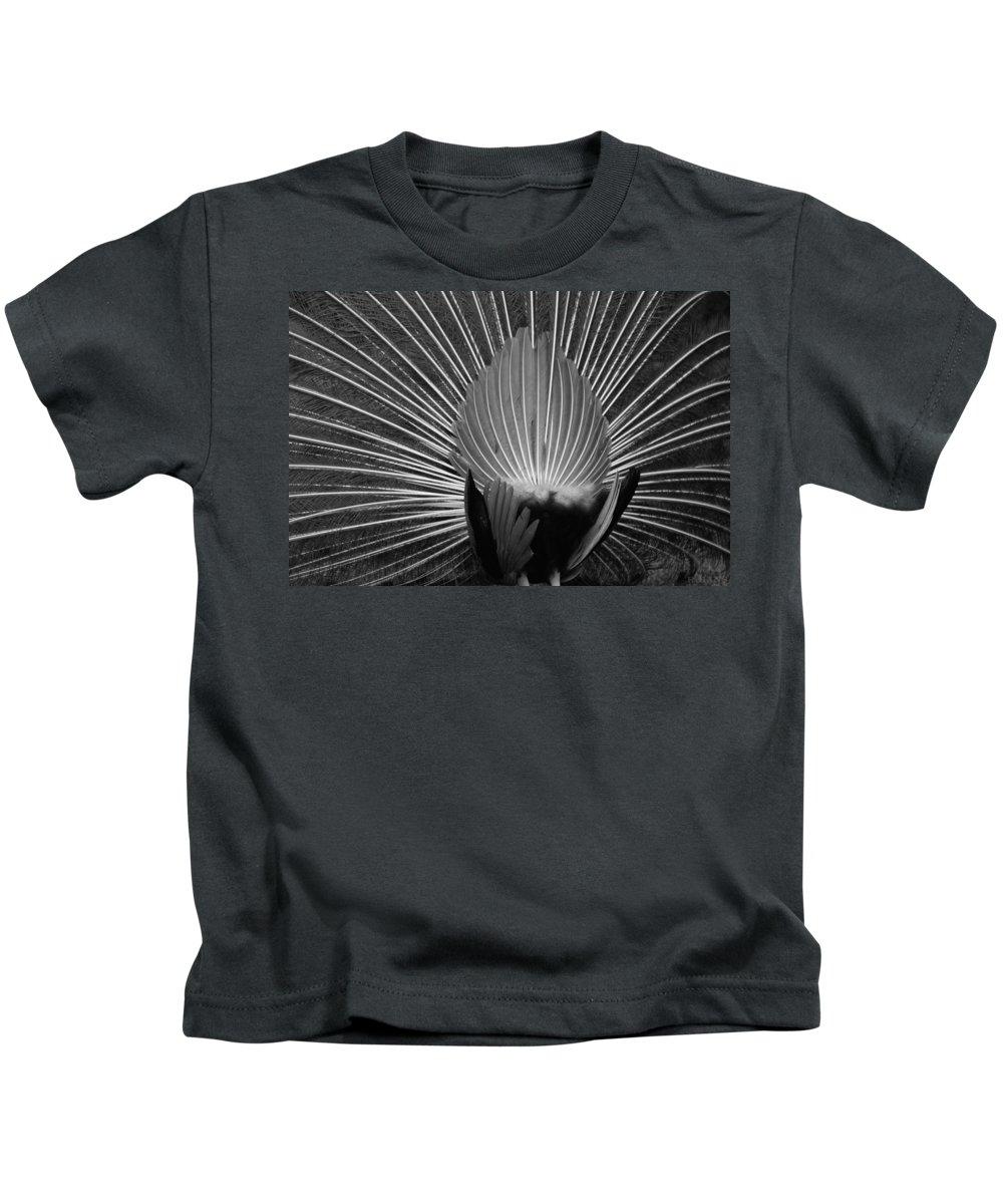 Macro Kids T-Shirt featuring the photograph Peacocks Ass Original by Rob Hans