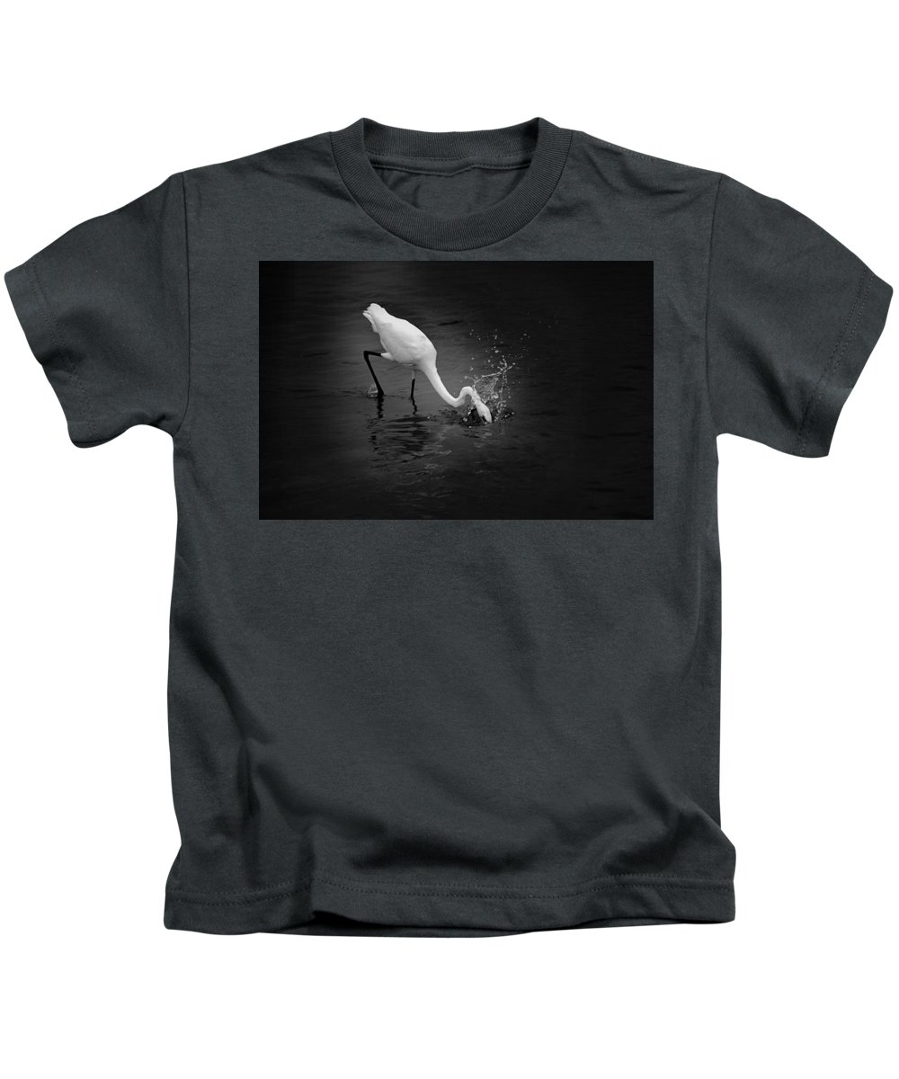 Black And White Kids T-Shirt featuring the photograph Peek-a-boo by Jody Braswell