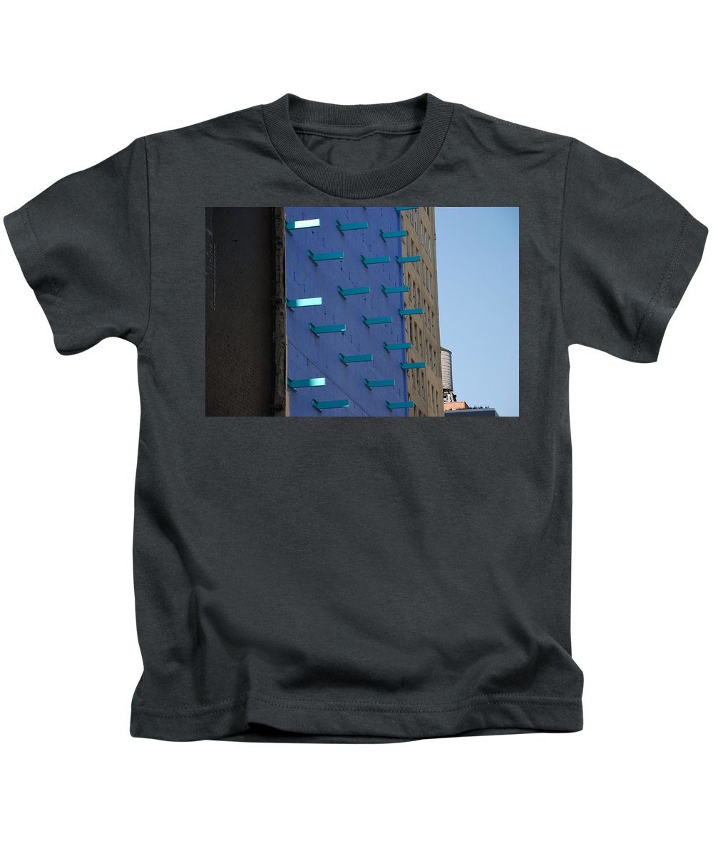 Architecture Kids T-Shirt featuring the photograph Peg Board by Rob Hans