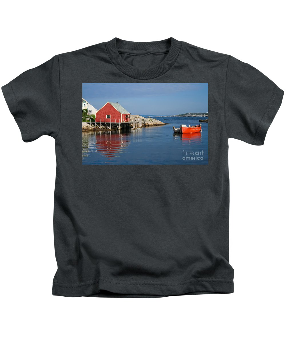 Peggy's Cove Kids T-Shirt featuring the photograph Peggys Cove by Thomas Marchessault