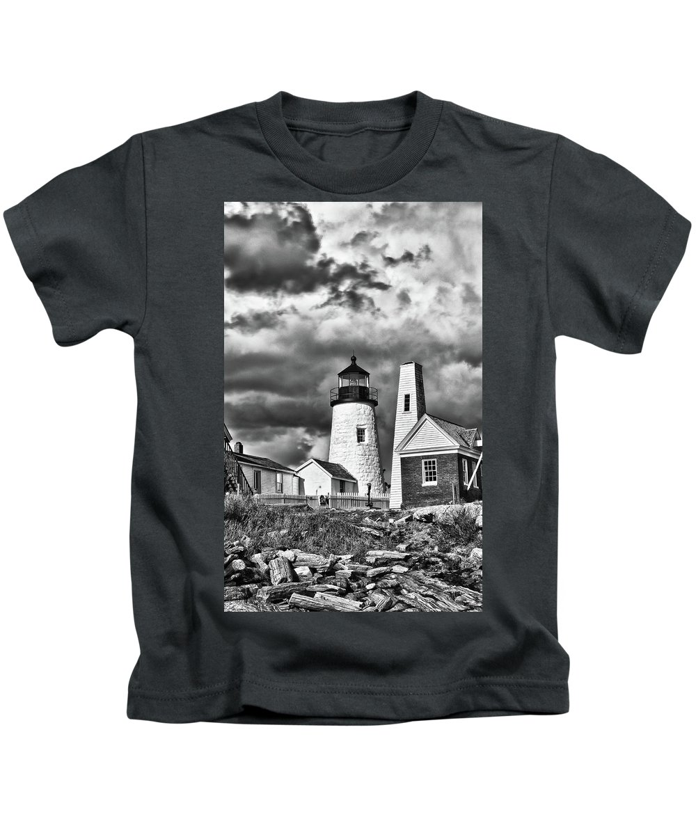 Buildings Kids T-Shirt featuring the photograph Pemaquid Point 4821b by Guy Whiteley