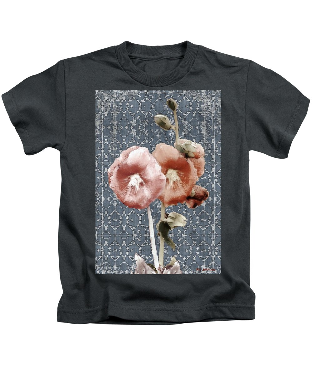 Cloth Kids T-Shirt featuring the painting Penny Postcard Bombay by RC DeWinter