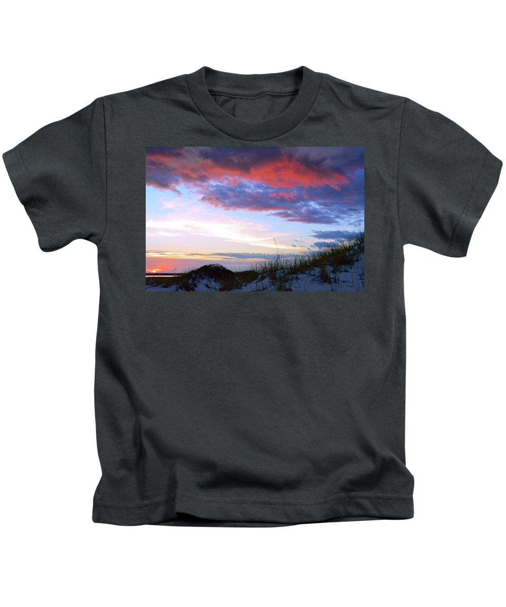 Sunset Kids T-Shirt featuring the photograph Pensacola Sunset After The Storm by Marie Hicks