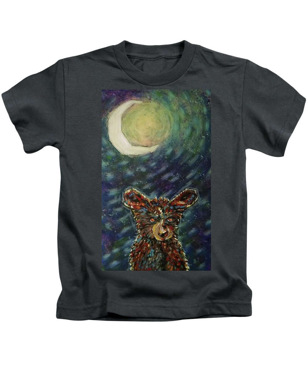 Moon Kids T-Shirt featuring the painting Pensive Moonlight by Cindy Carter