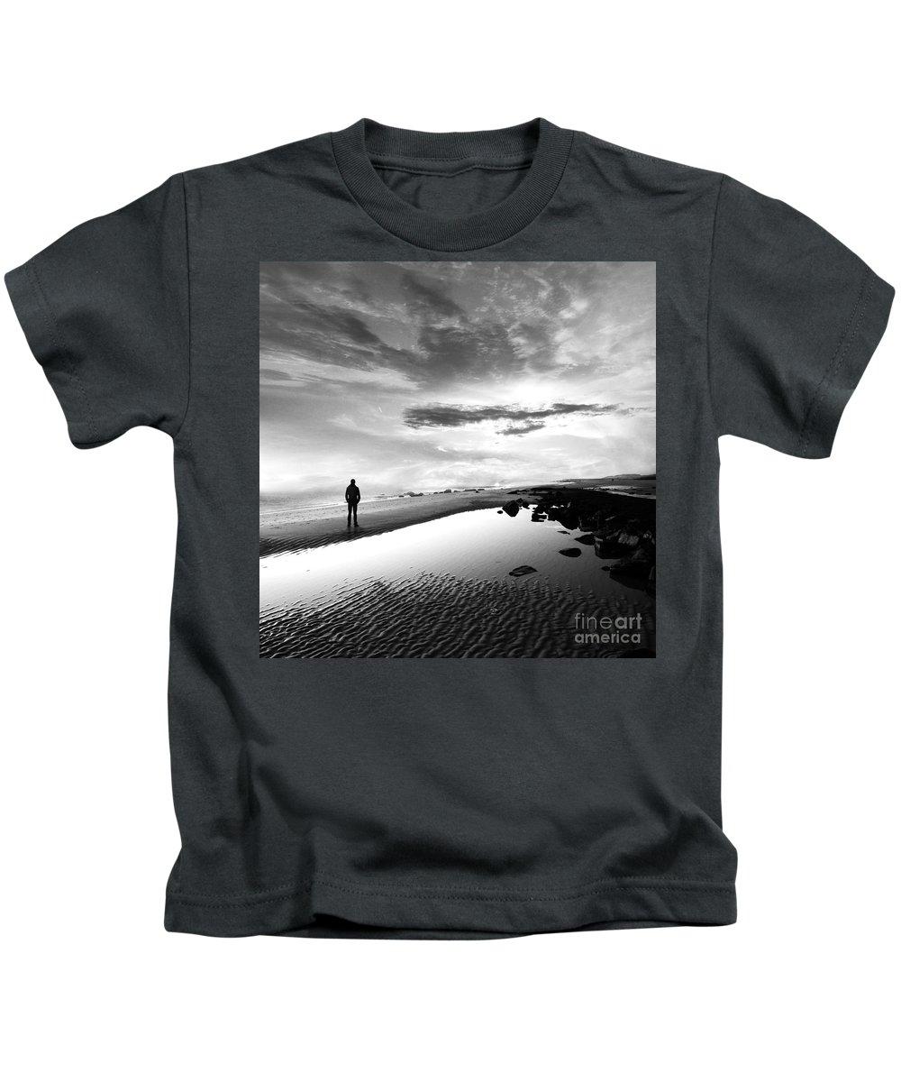 B&w Kids T-Shirt featuring the photograph Per Sempre by Jacky Gerritsen