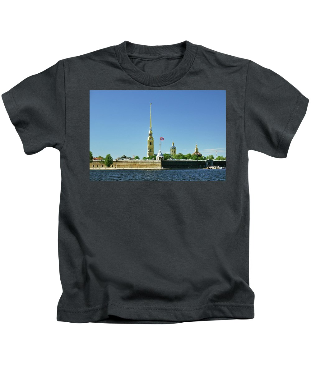 Saint Kids T-Shirt featuring the photograph Peter And Paul Fortress. Saint Petersburg, Russia by David Lyons
