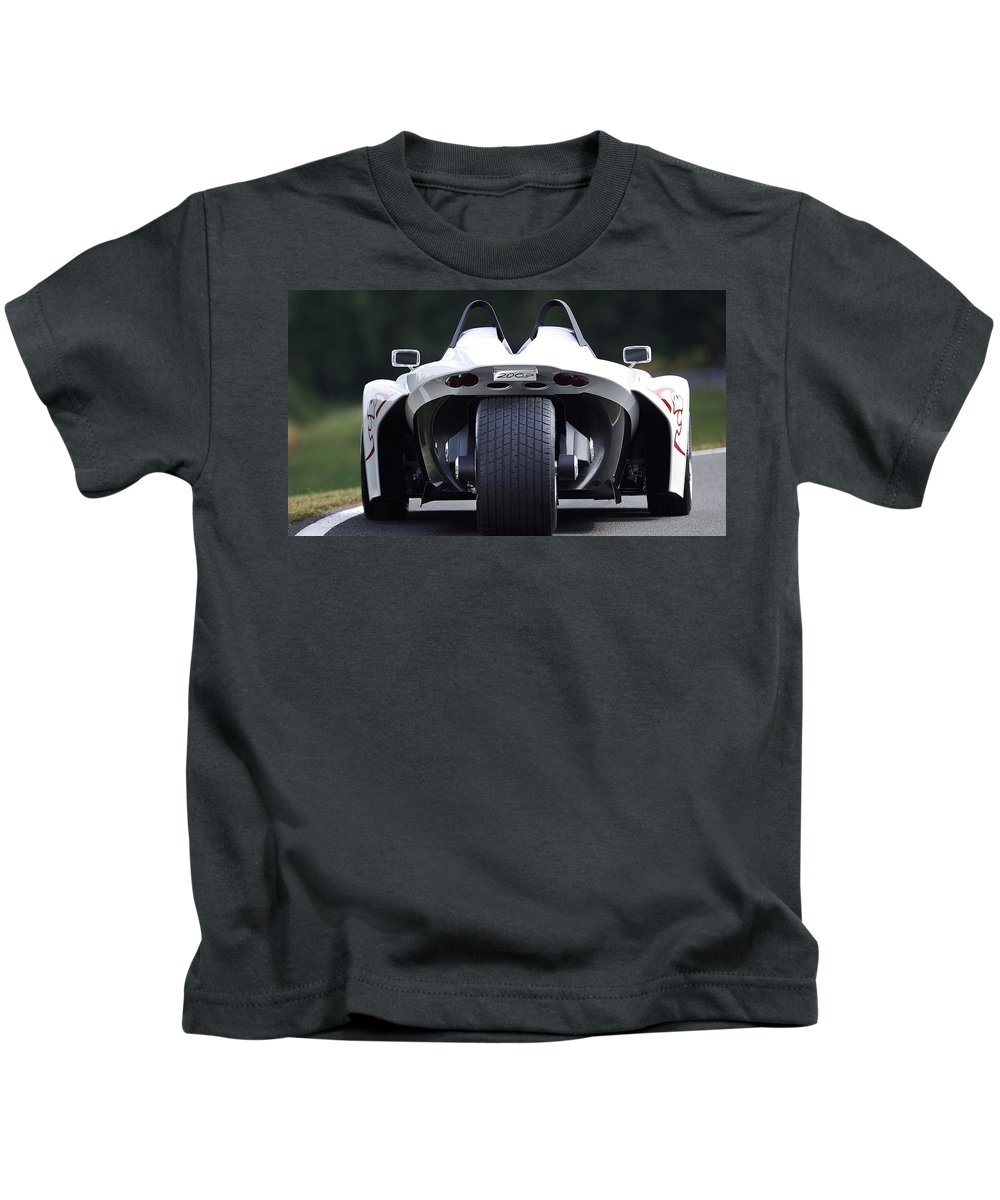 Peugeot 20cup Kids T-Shirt featuring the digital art Peugeot 20cup by Dorothy Binder
