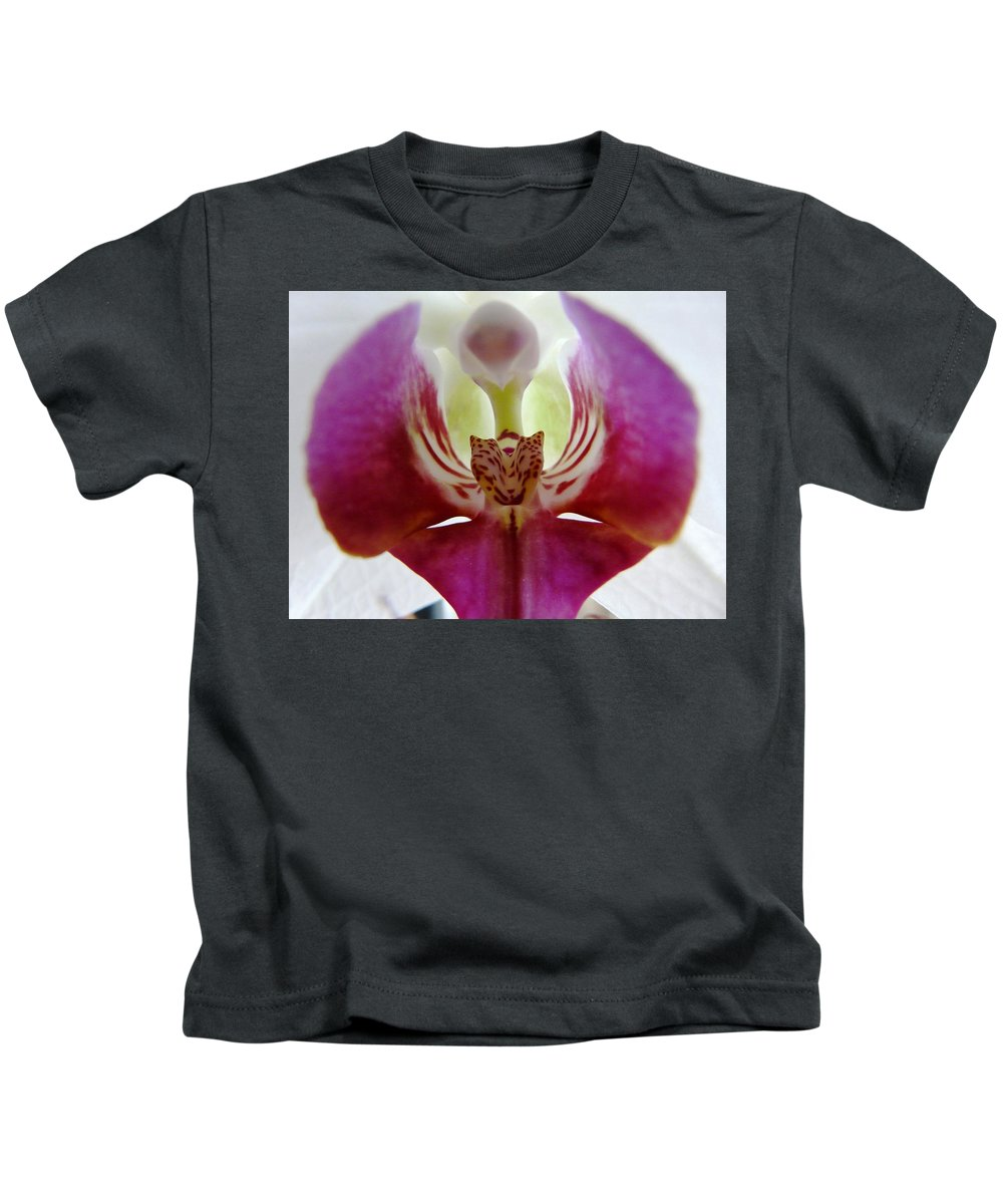 Flower Kids T-Shirt featuring the photograph Phalaenopsis Orchid Detail by Valerie Ornstein