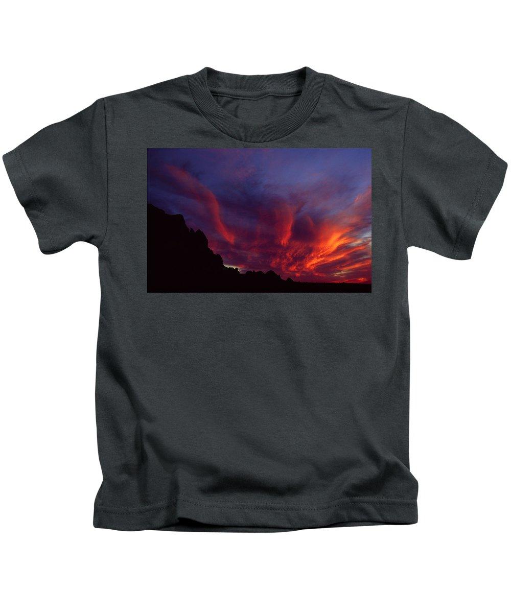 Arizona Kids T-Shirt featuring the photograph Phoenix Risen by Randy Oberg